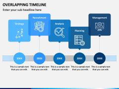 Overlapping Timeline PPT Slide 3