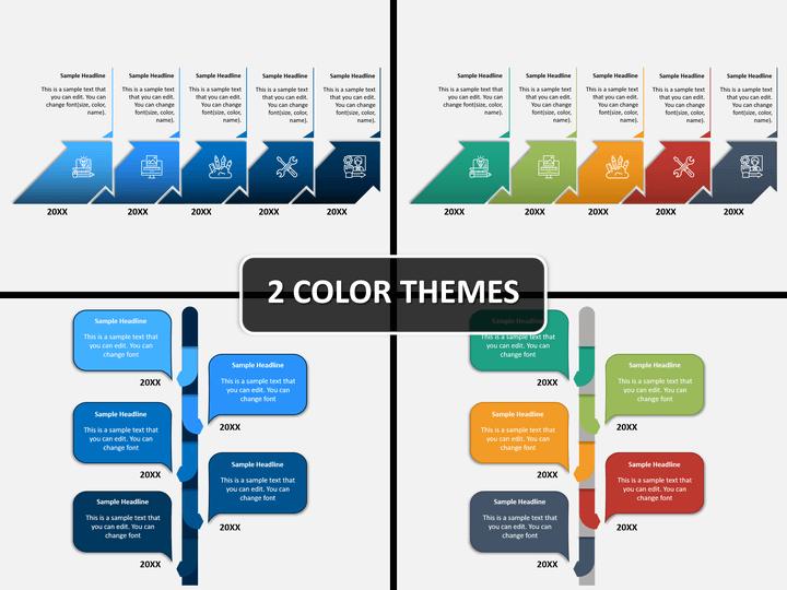 Sequential Timeline PPT Cover Slide
