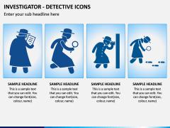 investigator Icons PPT Slide 3
