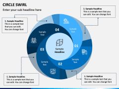 Circle Swirl PPT Slide 4