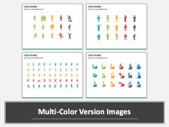 Stick Figures Multicolor Combined