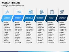 Weekly Timeline PPT Slide 1