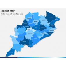 Odisha Map PPT Slide 1