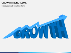 Growth Trend Icons PPT Slide 1