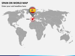 Spain on World Map PPT Slide 2
