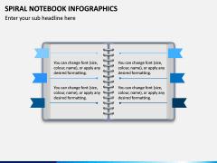 Spiral Notebook Infographics PPT Slide 1
