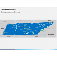 Tennessee Map PPT Slide 1