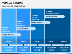 Parallel Timeline PPT Slide 1