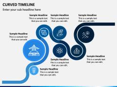 Curved Timeline PPT Slide 6