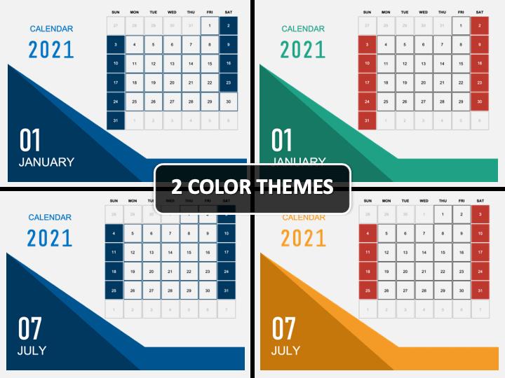 Calendar 2021 Type 5 PPT Cover Slide