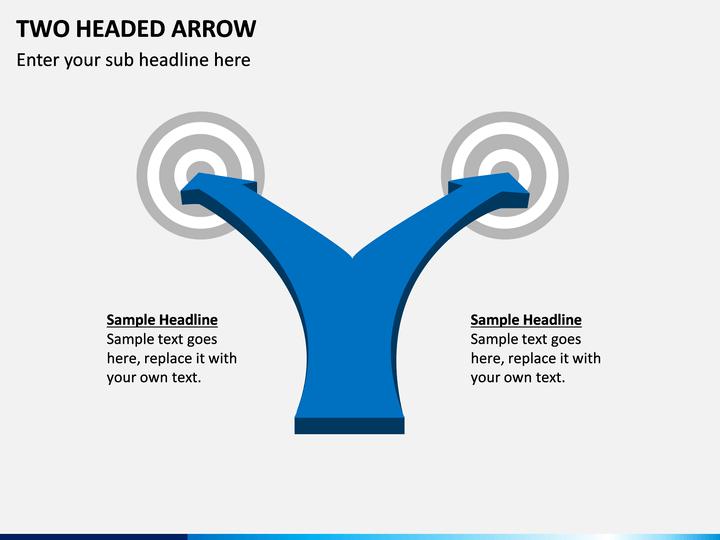 Two Headed Arrow PPT Slide 1