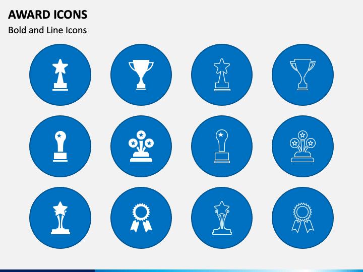 Award Icons PPT Slide 1