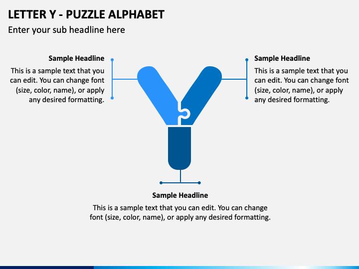 Letter Y - Puzzle Alphabet PPT Slide 1