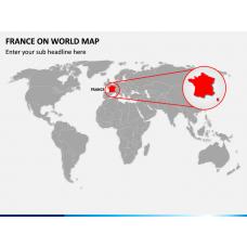 France on World Map PPT Slide 1