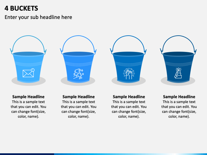 4 Buckets PPT Slide 1
