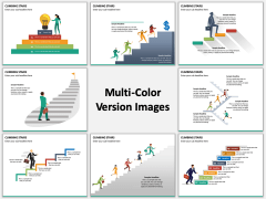 Climbing Stairs Multicolor Combined
