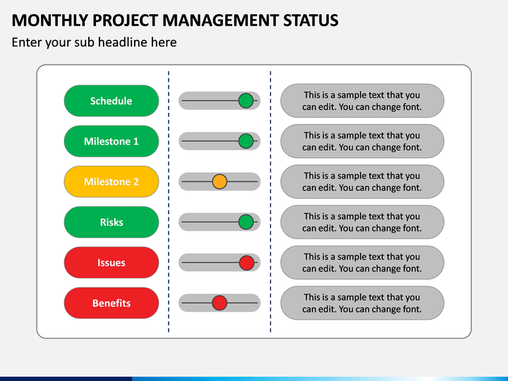 Monthly Project Management Status PPT Slide