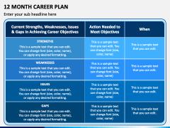12 Month Career Plan PPT Slide 2