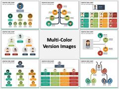 Creative Organizational Chart Multicolor Combined