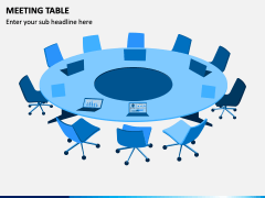 Meeting Table PPT Slide 1