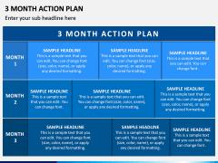 3 Month Action Plan PPT Slide 3