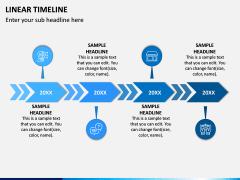 Linear Timeline PPT Slide 1