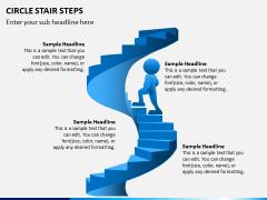 Circle Stair Steps PPT Slide 6