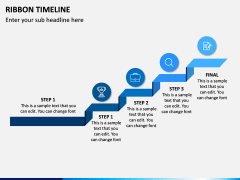 Ribbon Timeline PPT Slide 8