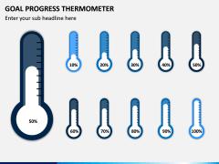 Goal Progress Thermometer PPT Slide 5