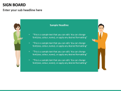 Sign Board PPT Slide 26
