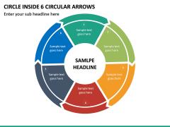 Circle Inside 6 Circular Arrows PPT Slide 2