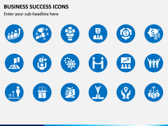Business Success Icons PPT Slide 1