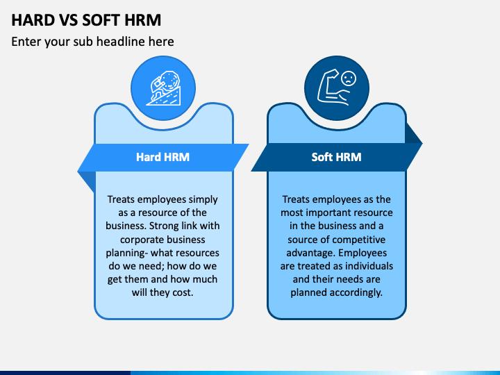 Hard Vs Soft HRM PPT Slide 1