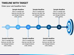 Timeline With Target PPT Slide 3
