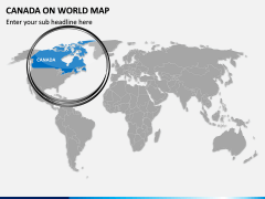 Canada on World Map PPT Slide 2