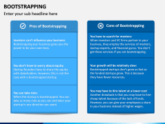 Bootstrapping PPT Slide 9