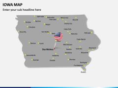 Iowa Map PPT Slide 3