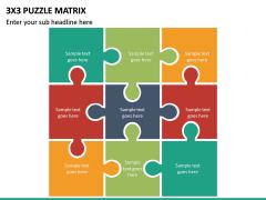 3x3 Puzzle Matrix PPT Slide 2