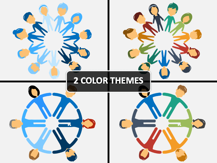 People Holding Hands in Circle PPT Cover Slide