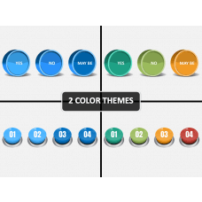 3d Buttons PPT Cover Slide