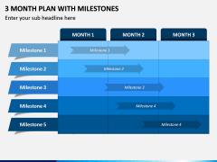3 Month Plan with Milestones PPT Slide 1
