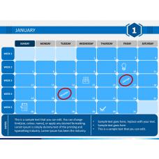 Planner Calendar 2020 PPT Slide 1