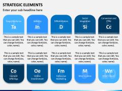 Strategic Elements PPT Slide 3
