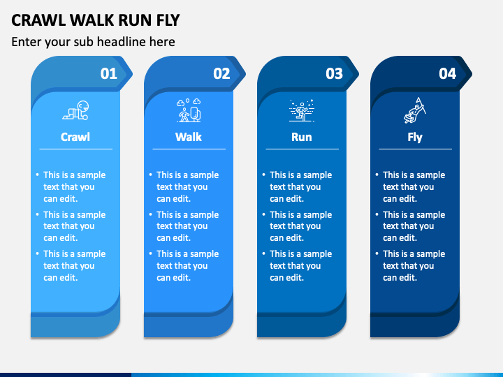 Crawl Walk Run Fly PPT Slide 1