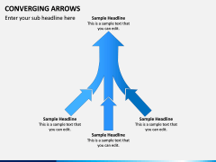 Converging Arrows PPT Slide 9