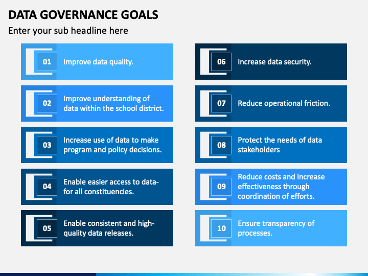 Data Governance Goals PPT Slide 1