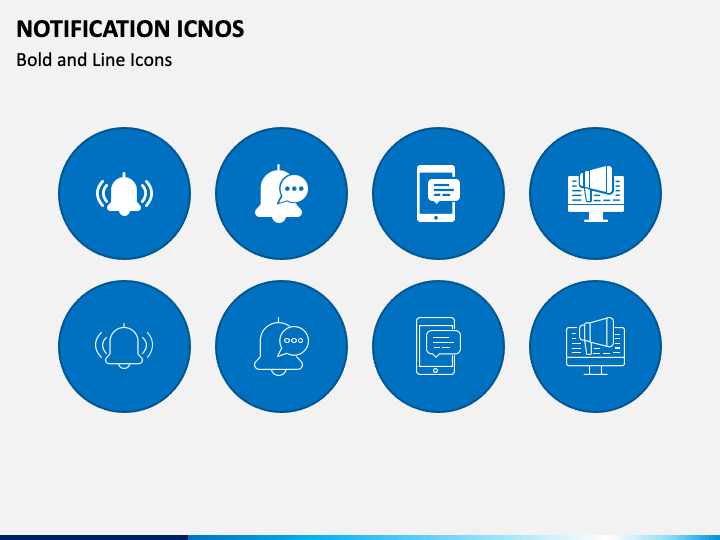 Notification Icons PPT Slide 1