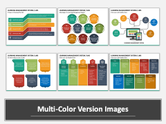 Learning Management System Multicolor Combined