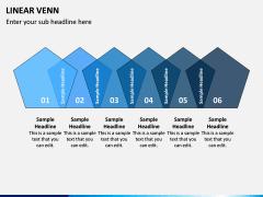 Linear Venn Diagram PPT Slide 10