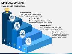 Staircase Diagram PPT Slide 3
